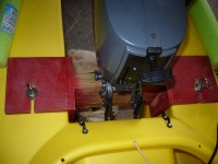 My DIY kayak transom mount for 15″ propeller shaft ...