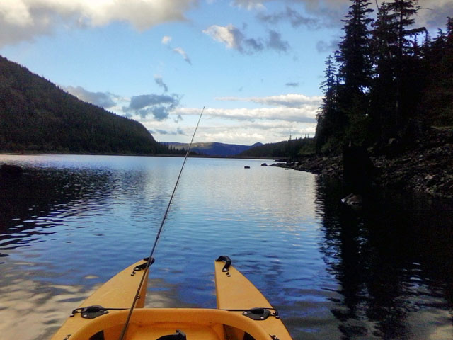 kayak fishing trip in Laurance lake, OR (2)
