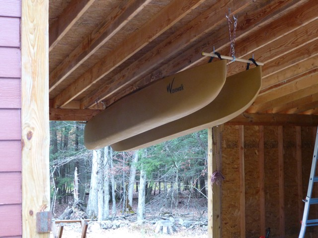 Rope And Pulley System For Indoor Storage Of W500 Kayak