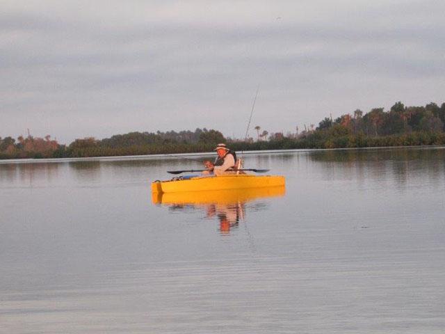 dick-sherman-in-his-yellow-kayak