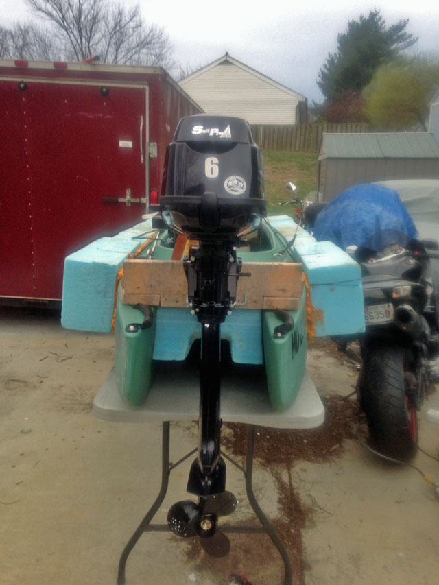 motorized-kayak-with-6hp-tohatsu-outboard