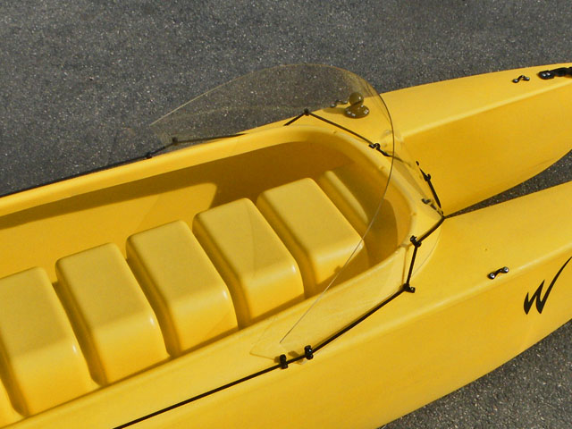 windshield for motorized fishing kayak