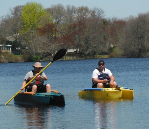 Liam-and=Connor-in-their-fishing-kayaks-Long-Island-NY
