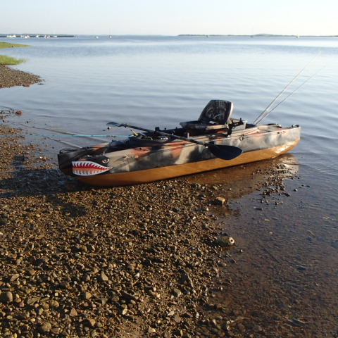 Camouflage wavewalk fishing kayaks for Fly fishing kayak