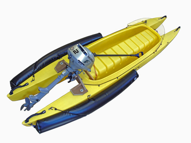 W570 Motorized fishing kayak microskiff