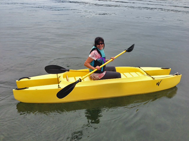 me paddling the kayak