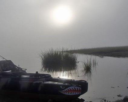 camo fly-fishing kayak