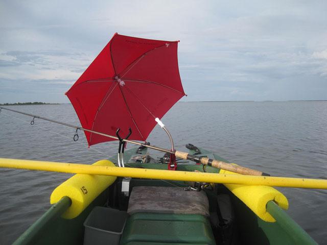Sailing umbrella 014 wavewalk stable fishing kayaks for Boat umbrellas fishing