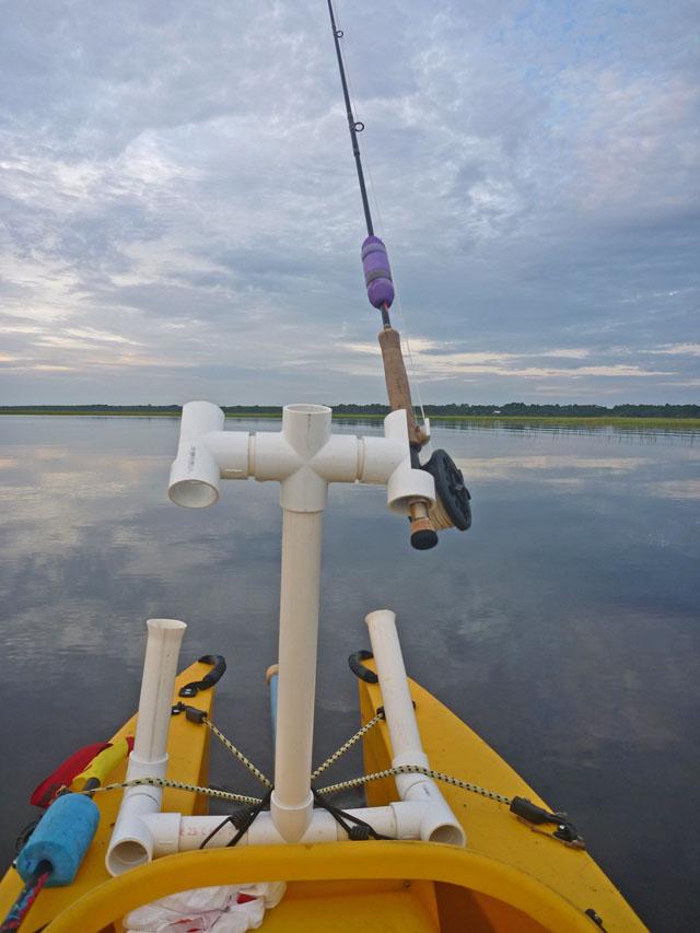 Pvc rod rack for boat cosmecol for Diy fishing rod holder for boat