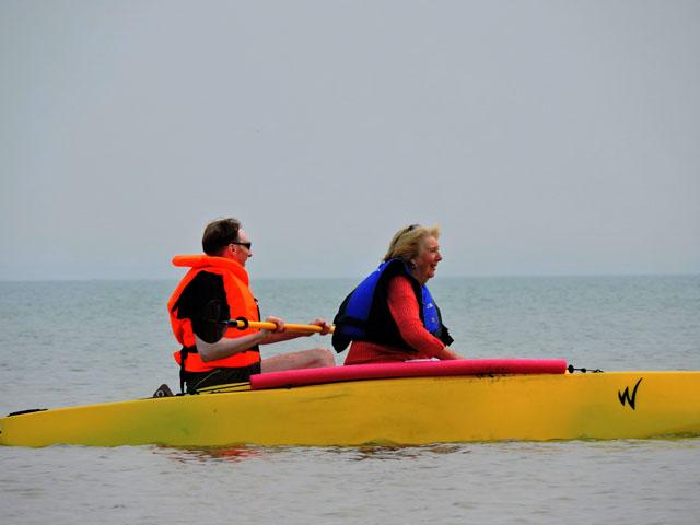 tandem-paddling-in-fishing-kayak-UK