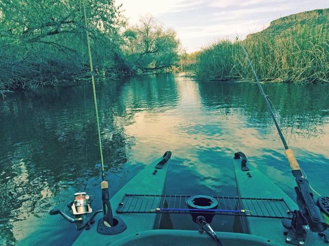 Fishing Billingsley Creek in a kayak
