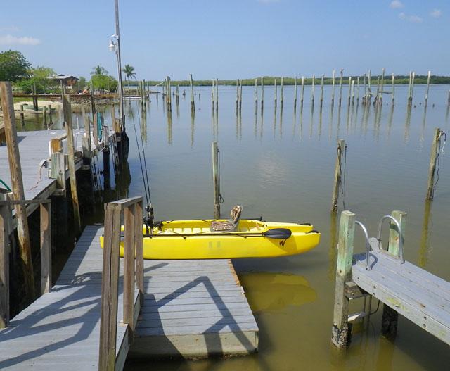 kayak back on the dock