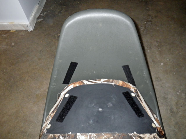 Steve's fishing kayak seat