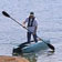 elderly fisherman paddling standing in his W700 fishing kayak
