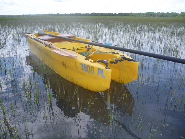 my-w500-fly-fishing-kayak-with-poling-pole