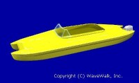 Personal catamaran in a 'motorboat' version 2005-6