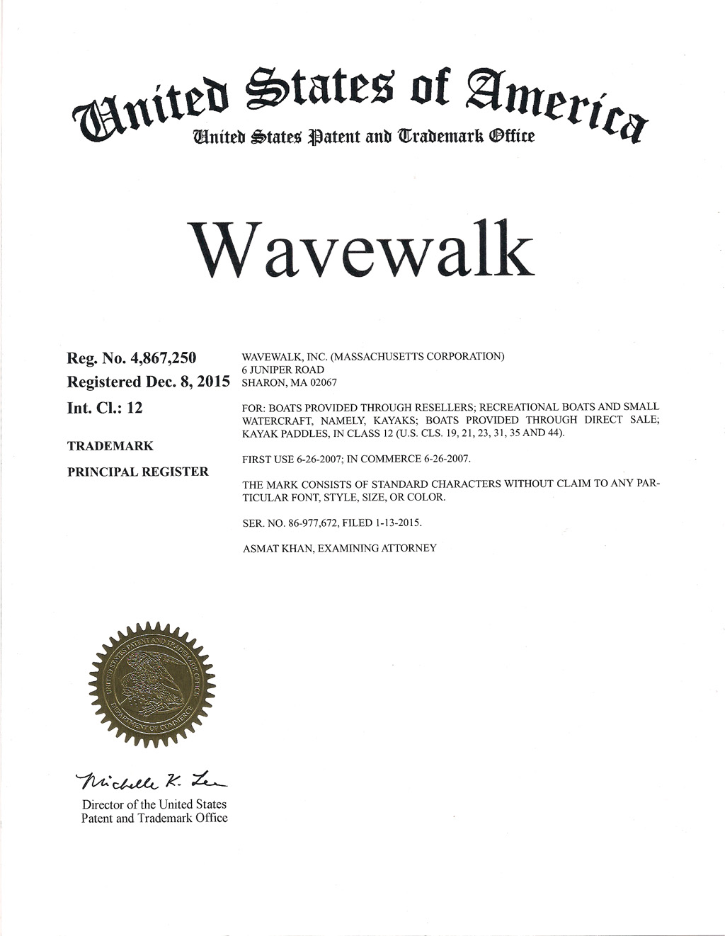 Wavewalk Trademark