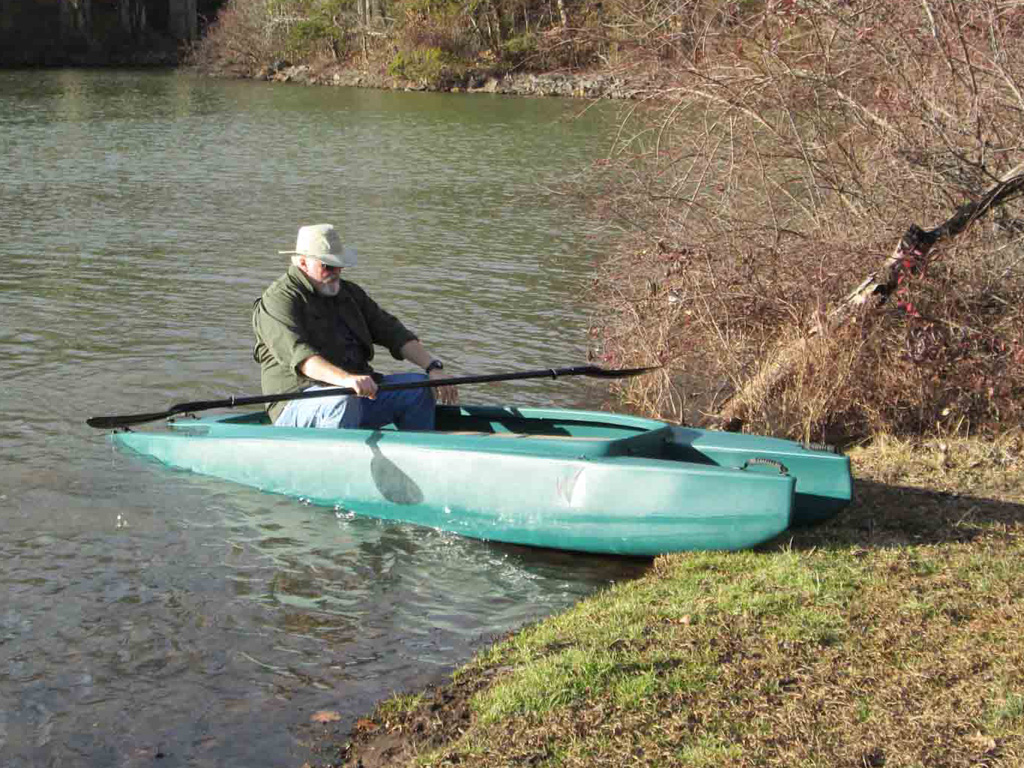 beaching-the-kayak-slide-the-bow-up-the-bank