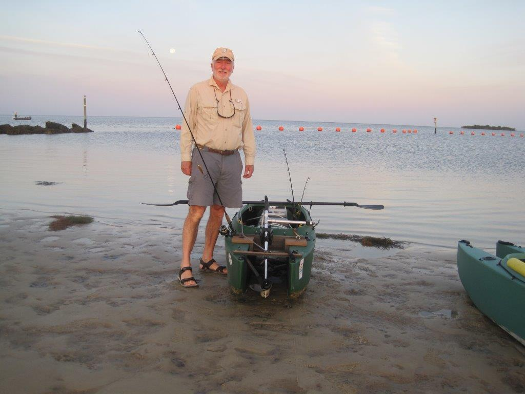 Bob standing next to his electric W500 fishing kayak