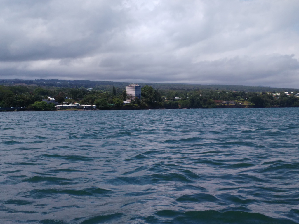 Choppy water in Hilo bay