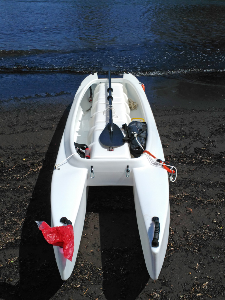 My Wavewalk 700 Microskiff on the beach