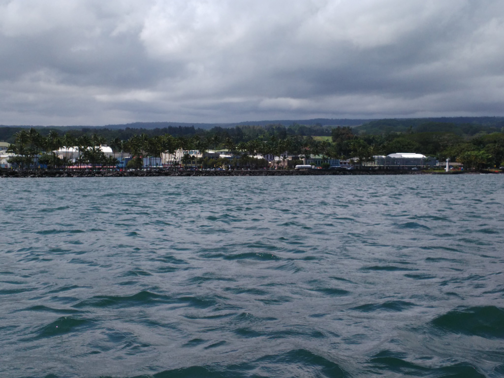 kayak trip in choppy water Hilo bay