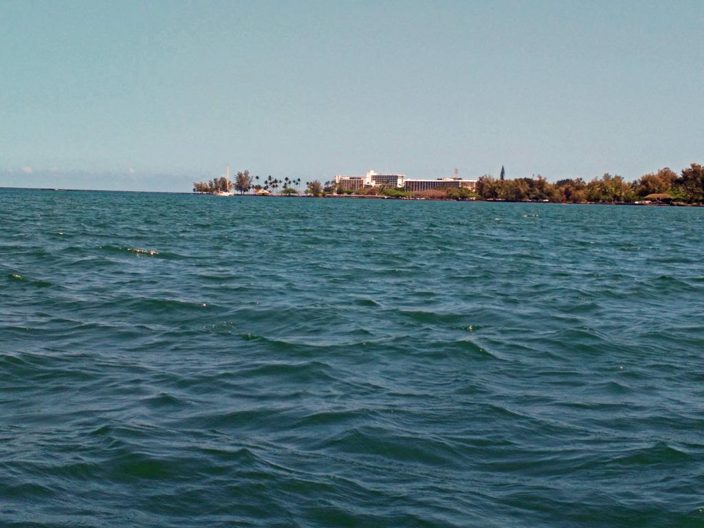 view of Hilo bay from my Wavewalk kayak