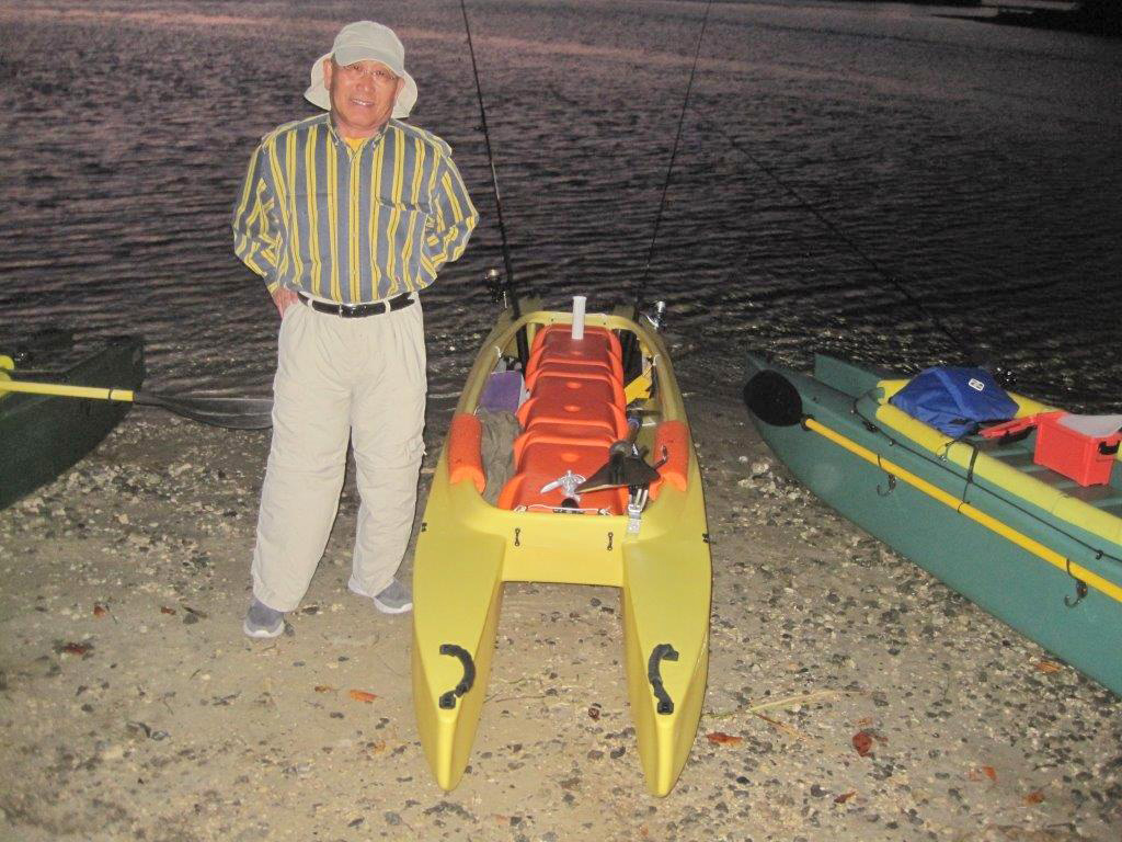 Jai-next-to-his-brand-new-W700-sunshine-fishing-kayak