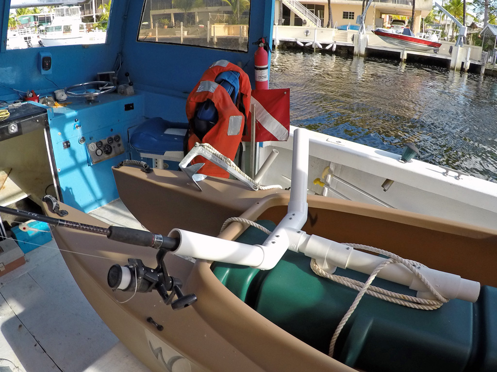 Rod holders wavewalk fishing kayaks boats and skiffs for Homemade fishing rod holders for boats