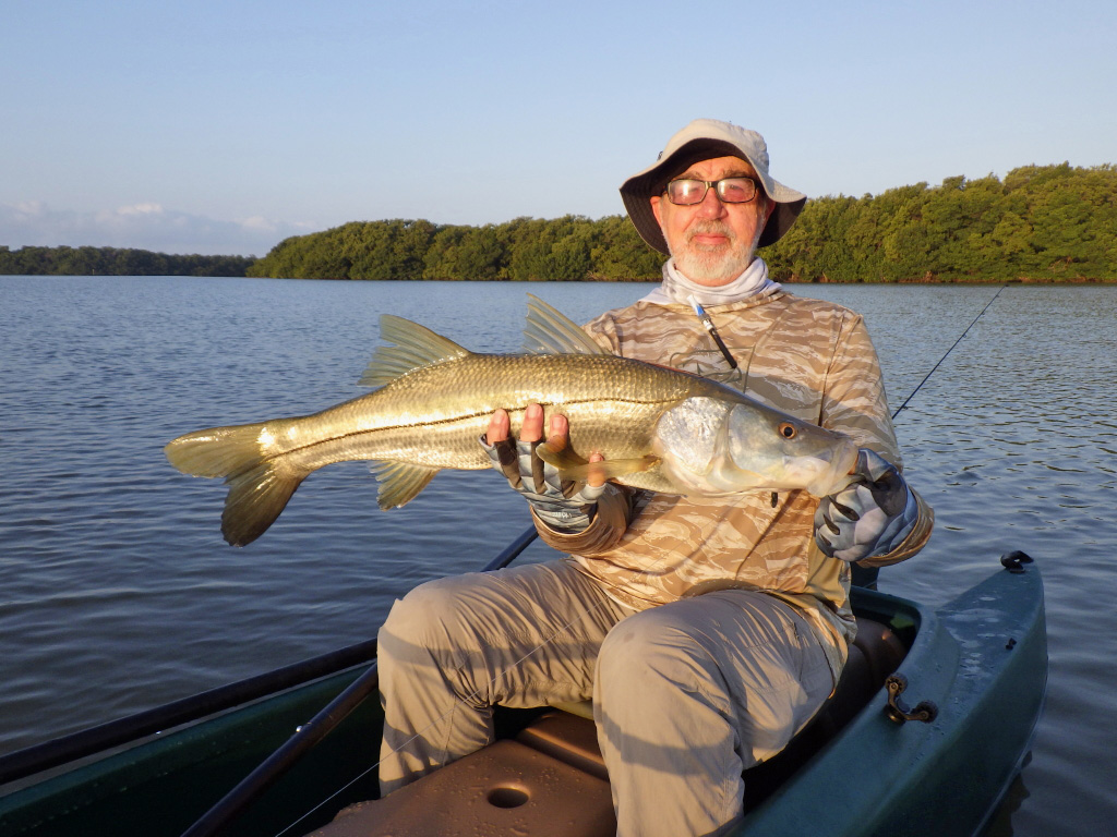 large size snook on board