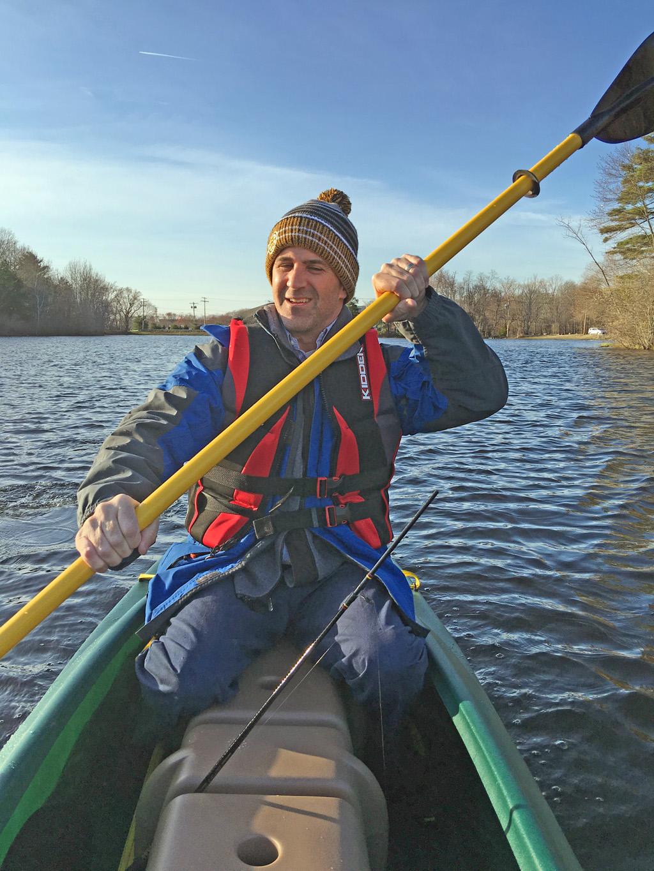 tandem-fishing-kayak-rear-passsenger-paddling