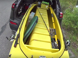 Landing and loading the Wavewalk 500 Fishing Kayak