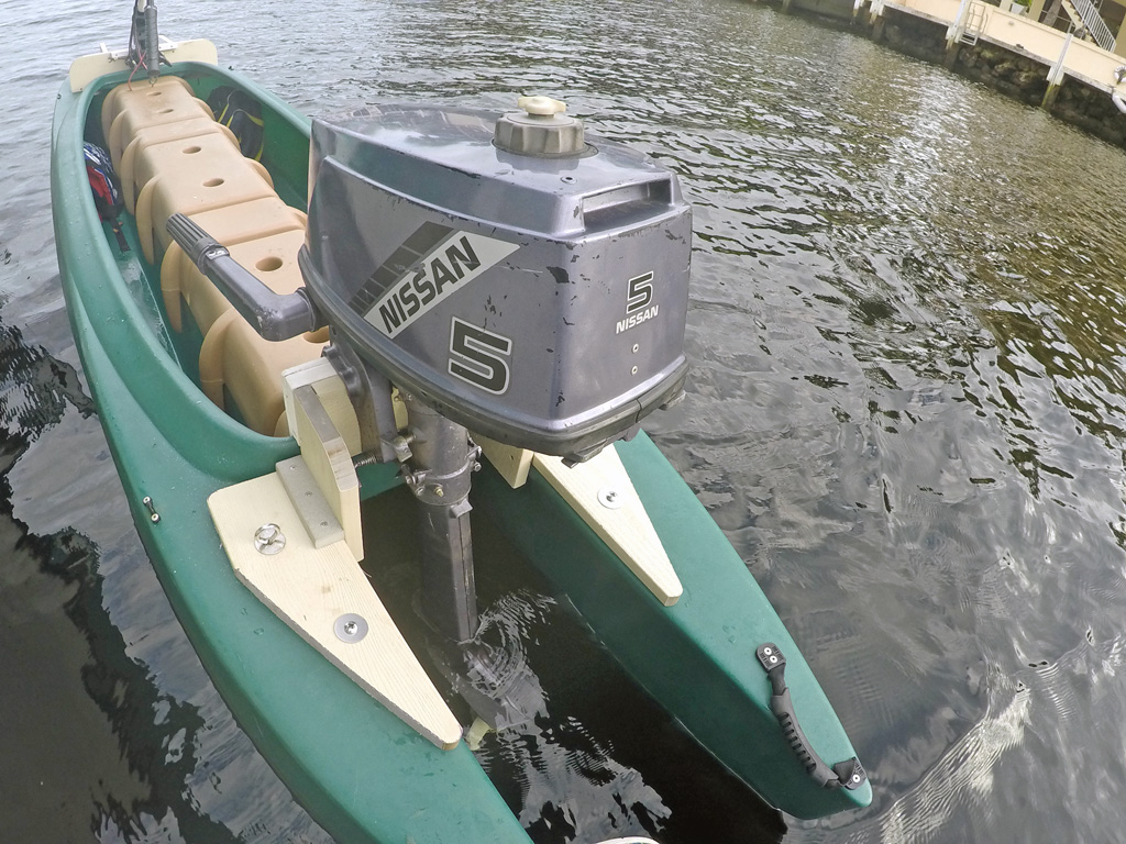 W700 skiff with 5HP outboard and electric trolling motor