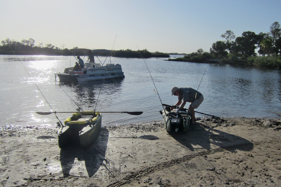 A nice day in ozella fishing with bob wavewalk stable for 2017 fishing kayaks