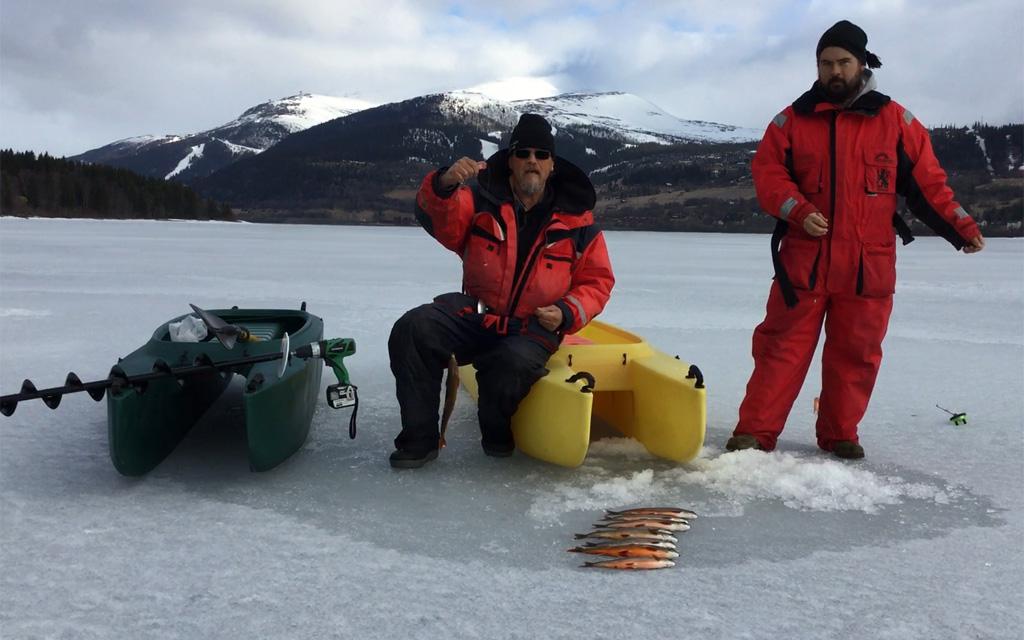 Ice fishing with Wavewalk 500 and Wavewalk 700 kayaks