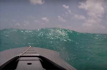 Driving the Wavewalk S4 in 3-5 ft waves