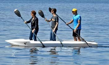 UNIMAGINABLE STABILITY - Wavewalk S4 with three stand up paddlers