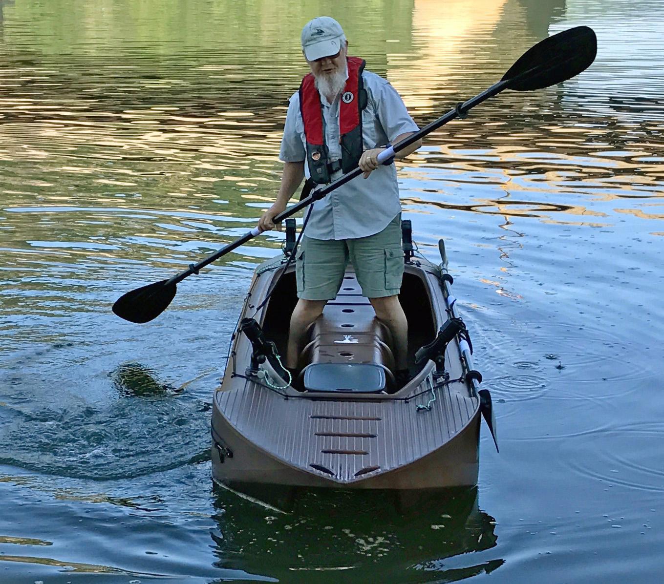 Big guy wavewalk stable fishing kayaks portable boats for Fishing kayak for big guys