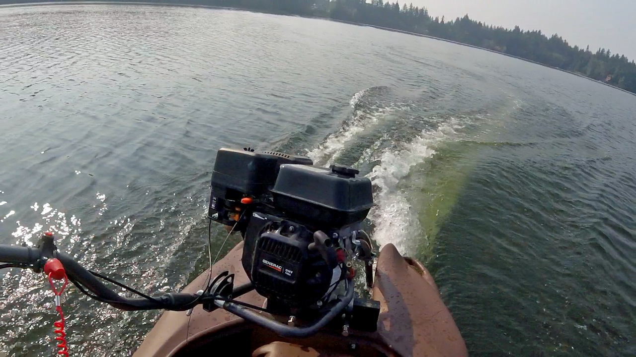 Wavewalk S4 With A 6 5 Hp Mud Motor First Test Le