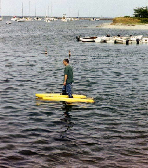Walking on water in Cohasset harbor
