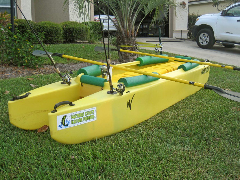 Diy wavewalk stable fishing kayaks boats and skiffs for Fishing from a kayak