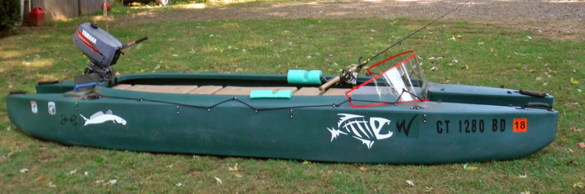 New pictures of my motorized Wavewalk 700 fishing kayak