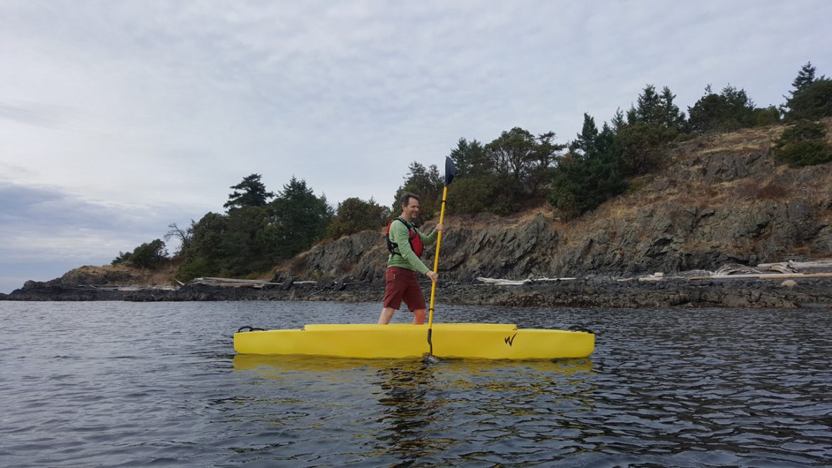 The w700 is very stable and easy to stand up in wavewalk for Stand up fishing kayak