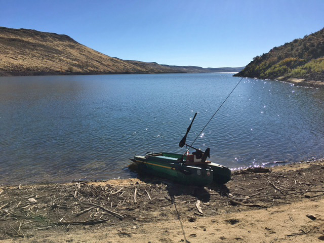 End of the fall season in idaho fishing in my electric for 2017 fishing kayaks