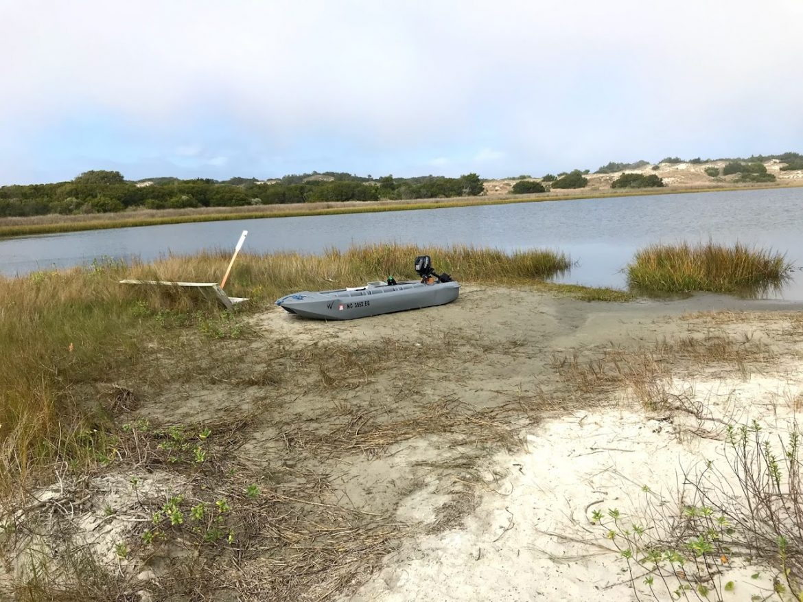 Shelling in the barrier islands with our Wavewalk S4