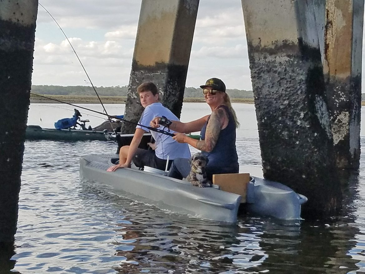 Veterans' monthly kayak outing on the water
