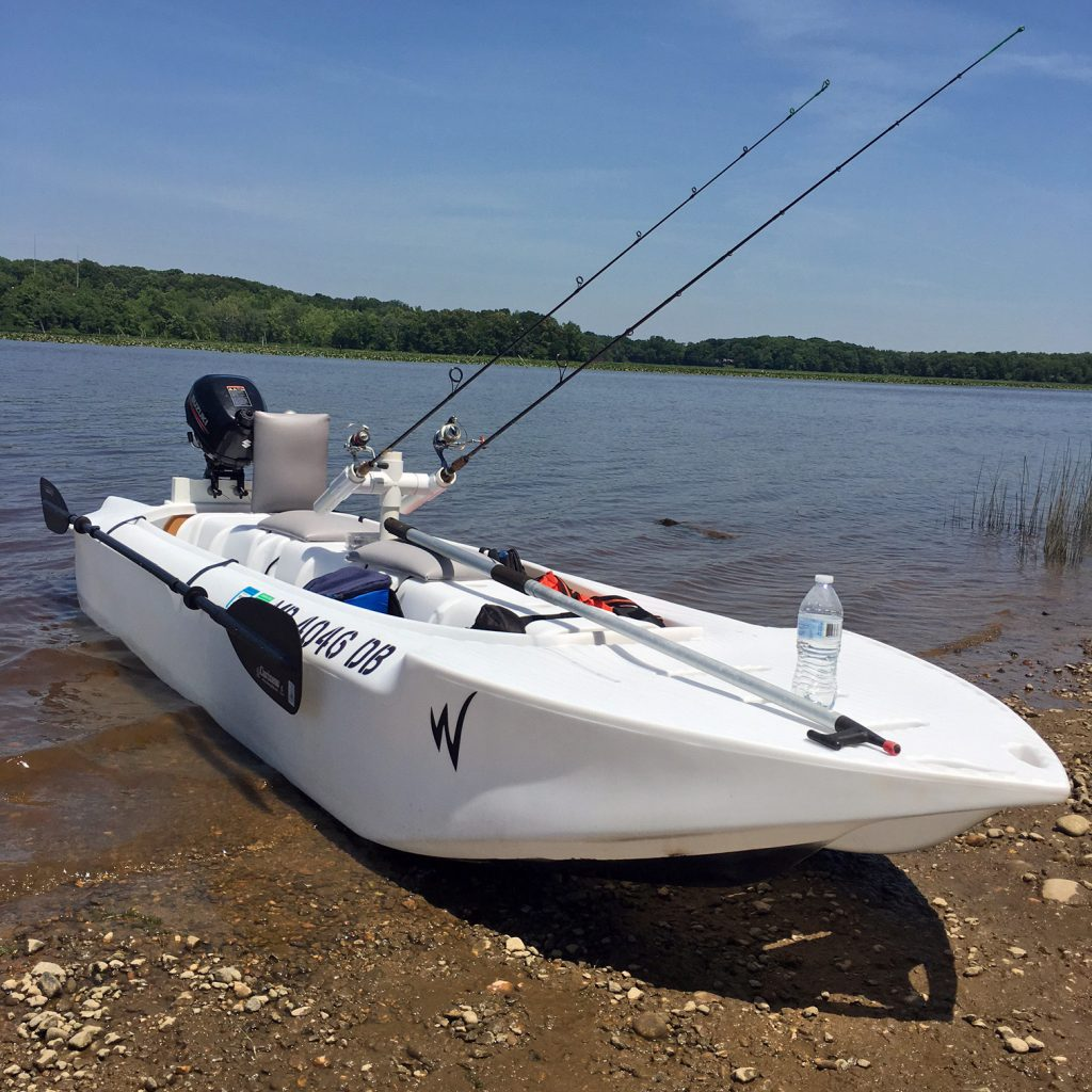 Wavewalk S4 micro skiff with front deck for casting, Maryland