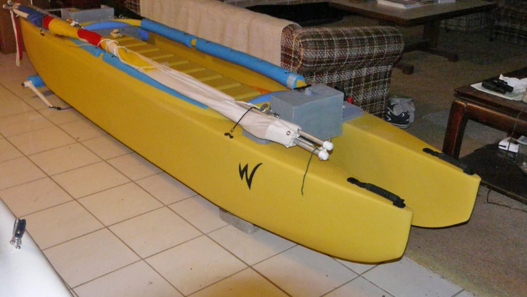 Wavewalk 500 kayak review - sailing and rowing