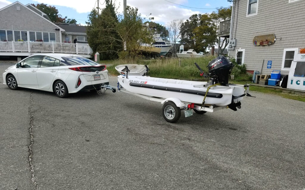 Aluminum trailer for the Wavewalk S4 motor kayak