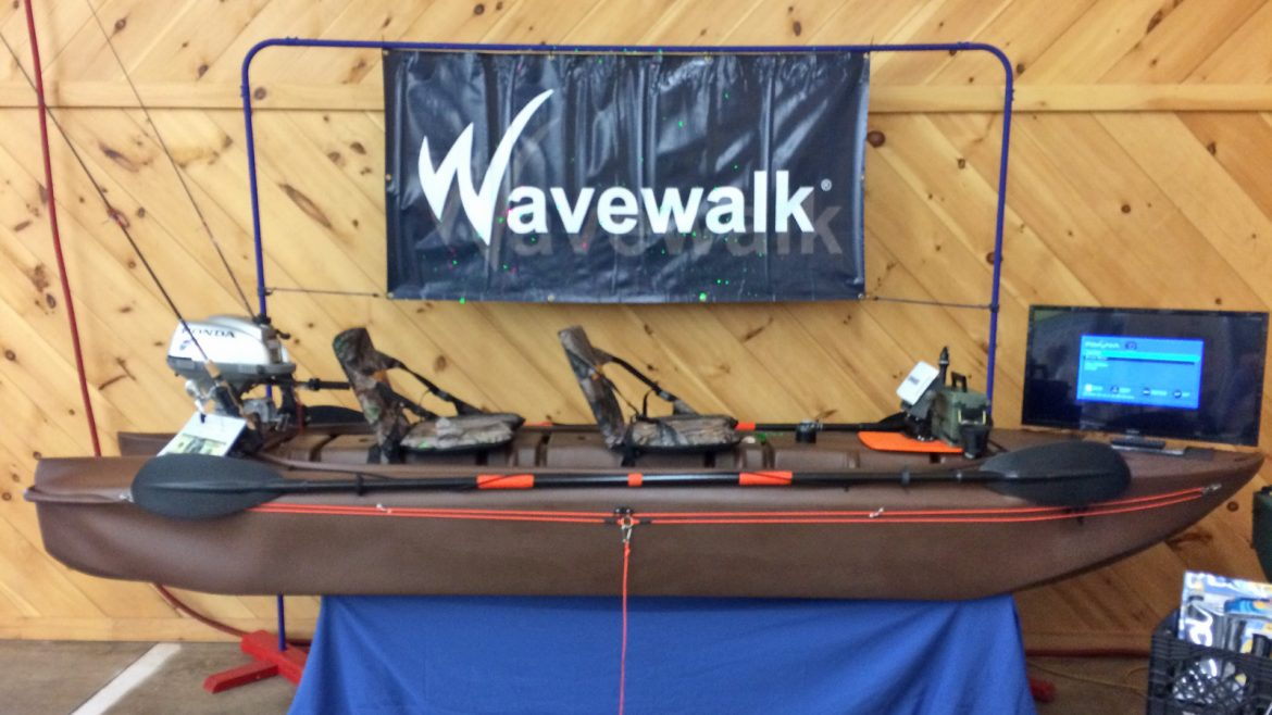 HBBCO featuring Wavewalk kayaks at the Early Bird Sports Expo at the Bloomsburg Fair Grounds, Pennsylvania